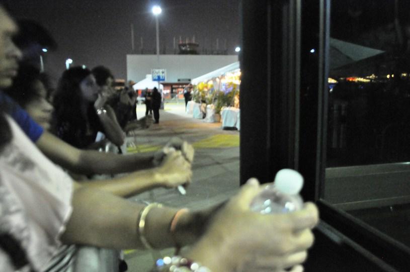 Priyanka Chopra Fans Wait to Catch a Glimpse during Green Carpet Walk at Green Carpet Walk for IIFA at Tampa International Airport, April 23, 2014