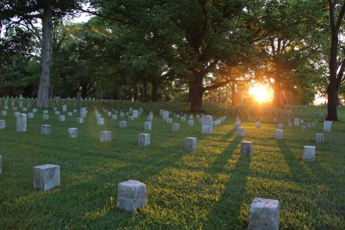 Sunrise over Shiloh National Cemetery