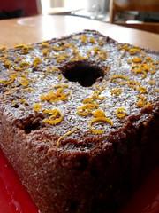 Chocolate Orange Cake with Orange Curls