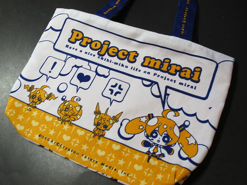 Project mirai-themed bag