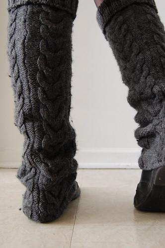 upcycled legwarmers