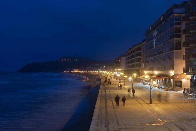 El paseo marítimo de Zarautz
