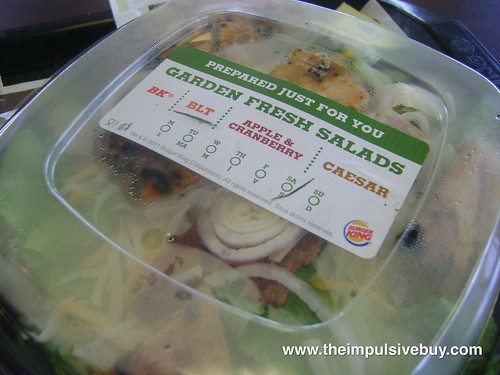 Burger King Chicken B.L.T. Garden Fresh Salad