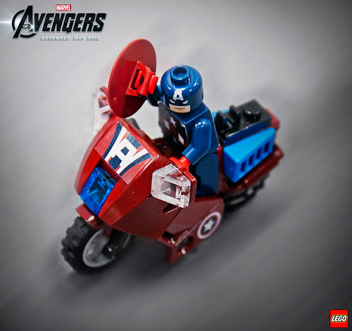 6865 Captain America's Avenging Cycle