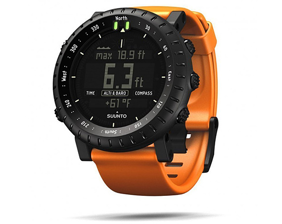 Suunto Core Black with Orange Strap