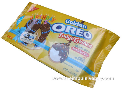 Limited Edition Birthday Cake Golden Oreo Fudge Cremes