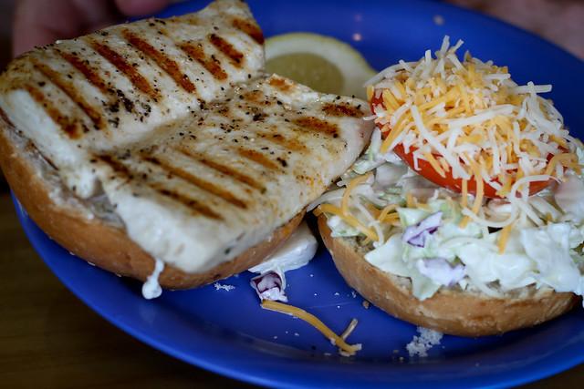 Fish Burger at Coconut's Fish Cafe