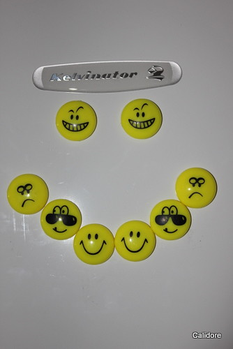 Smiley Face on Fridge