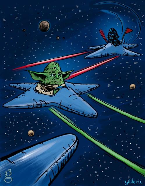 Star Wars (Les Etoiles font la foire) - Illustration : Gilderic
