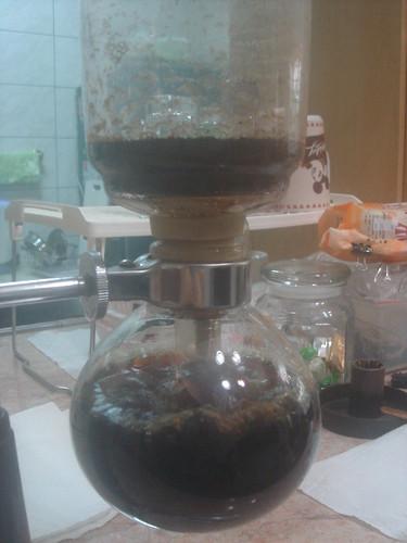 syphon以咖啡往下流入下座3