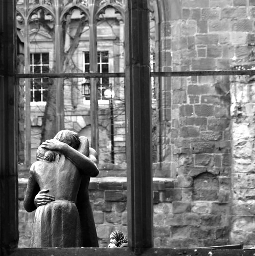 Window of Reconciliation: Old Coventry Cathedral Coventry West Midlands UK