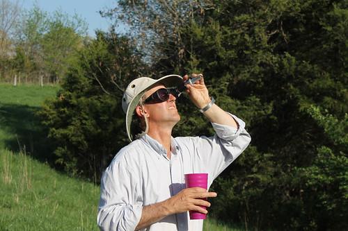 Greg Judy taking refractometer reading