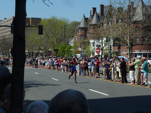 Boston Marathon 2012 on Beacon in Brookline