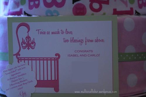 diaper cake card