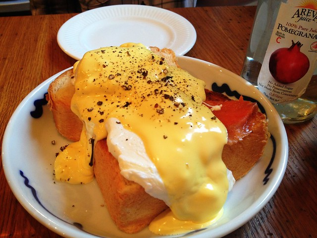 poached eggs/group therapy cafe