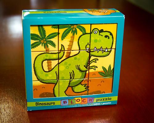 Mudpuppy Dinosaur Block puzzle