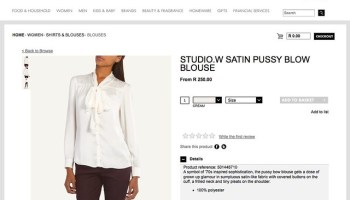 studio.w Satin Pussy Blow Blouse   Blouses   Shirts & Blouses   Women   Woolworths.co.za   Food, Home, Clothing & General Merchandise available online!