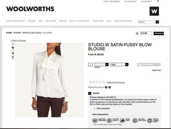 studio.w Satin Pussy Blow Blouse | Blouses | Shirts & Blouses | Women | Woolworths.co.za | Food, Home, Clothing & General Merchandise available online!