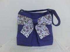 Pretty bow bag in merry purple