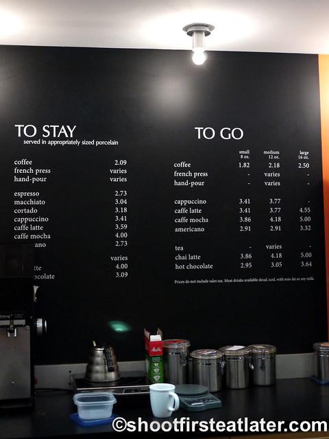 Chinatown Coffee's menu