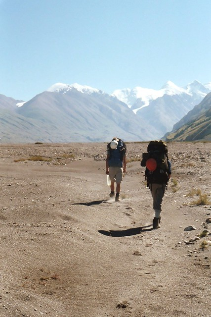 Hot, dry and dusty in the Inylchek valley