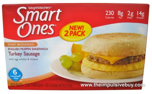 Weight Watchers Smart Ones Smart Beginnings Turkey Sausage English Muffin Sandwich