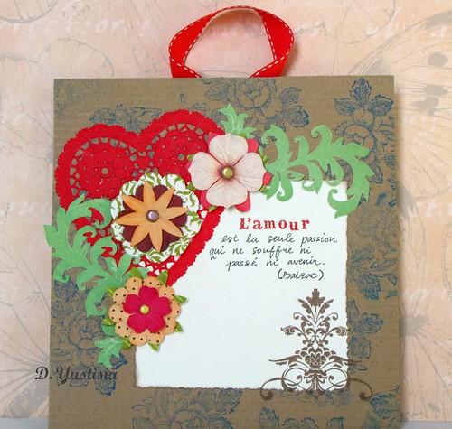 L'amour est la passion, cardboard greeting