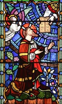 Moses receives the Commandments of God