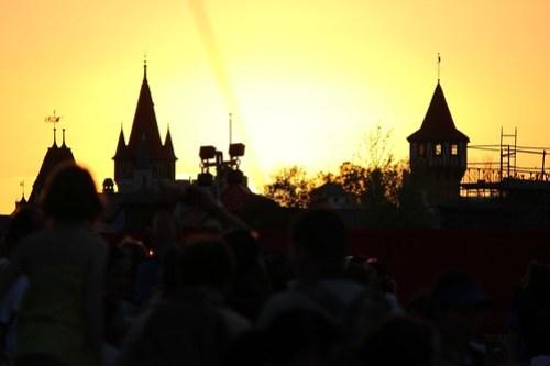 New Fantasyland sunset - Storybook Circus
