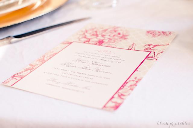 Vintage Garden - Wedding Invitation Set