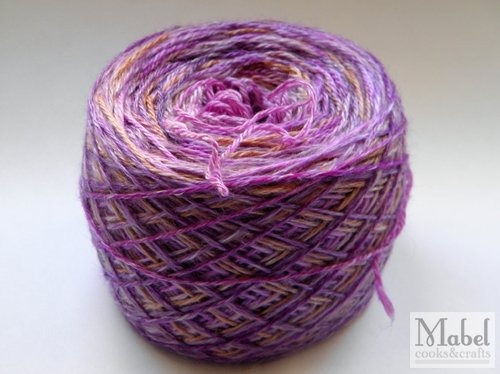 The yarn for a group crochet piece