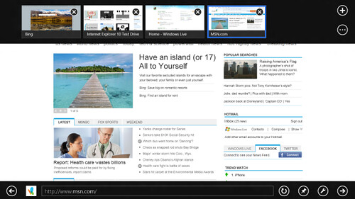 Internet Explorer 10 Beta - Windows 8 Consumer Preview