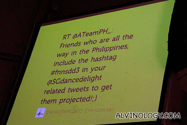 A Team from the Philippines has strong support on the Twitter big screen