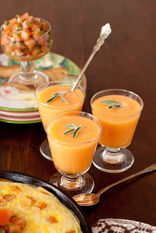 Melon Soup and Frittata 2