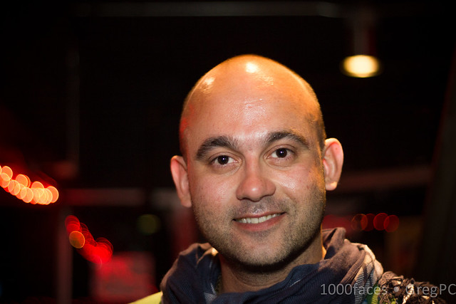 Face - bald man with a nice smile