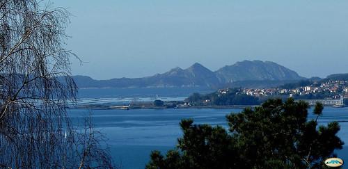 Ría de Vigo, con el Morrazo y las Cíes