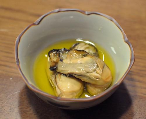燻製牡蠣オリーブオイル漬け