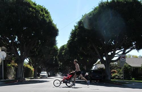Final long run before LA Marathon, 21 miles