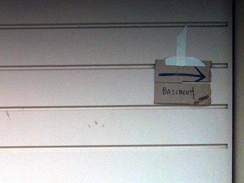 Basement, this way