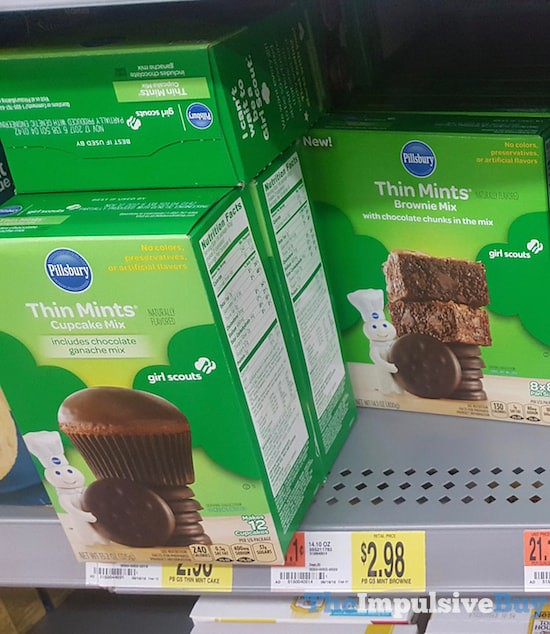 Pillsbury Girl Scouts Thin Mints Cupcake Mix and Brownie Mix