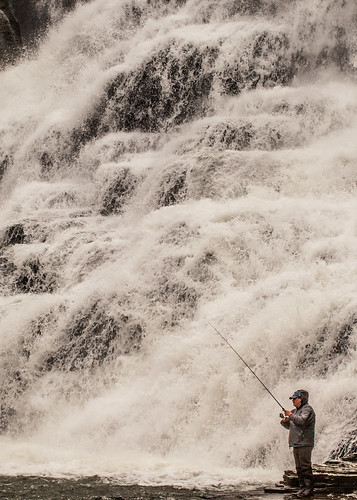Fishing at Ithaca Falls