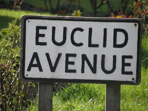We're gonna walk down to Euclid Avenue....