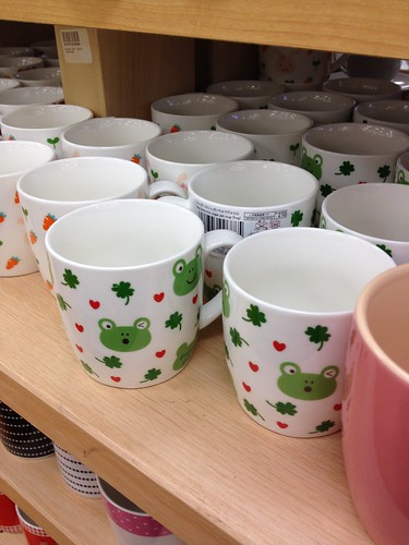 frog and clovers and hearts cup
