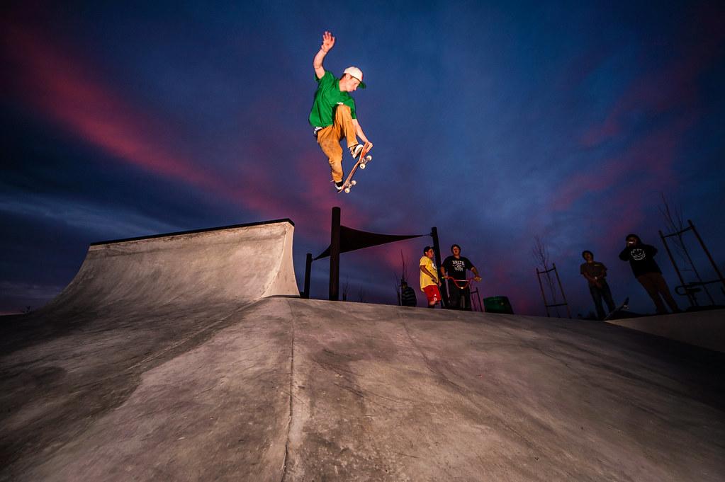 Ryan McWhirter backside kicker into the epic sunset