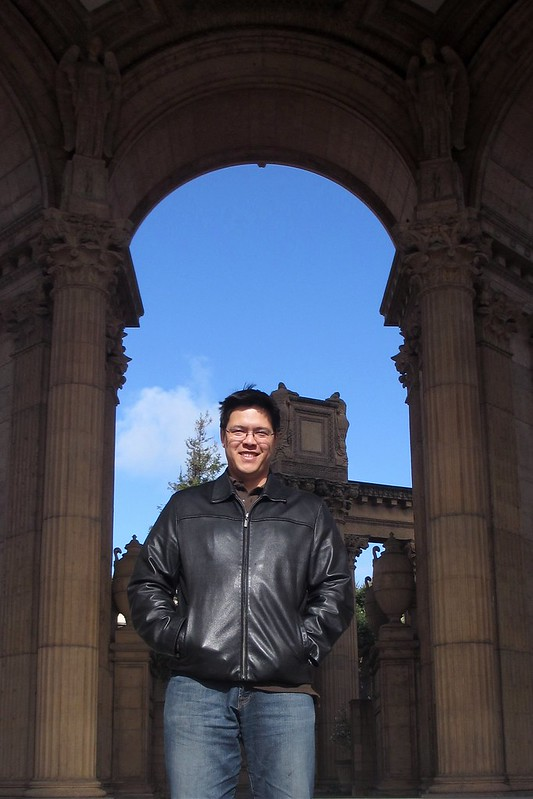 Pat at the Palace of Fine Arts