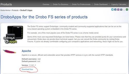DroboApps Apache