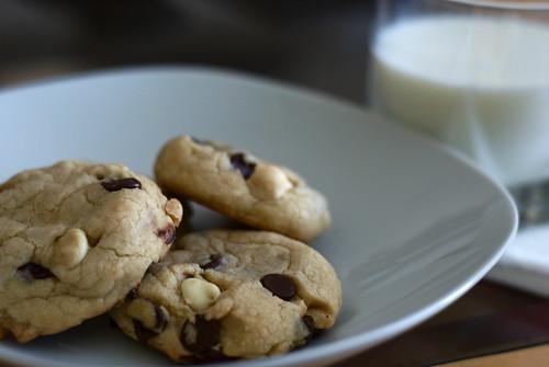 White chocolate and Semi-sweet chocolate chip cookies!