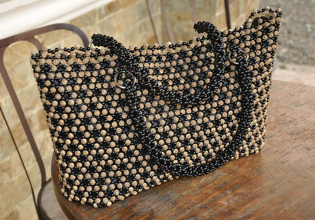 Handmade Bead Tote