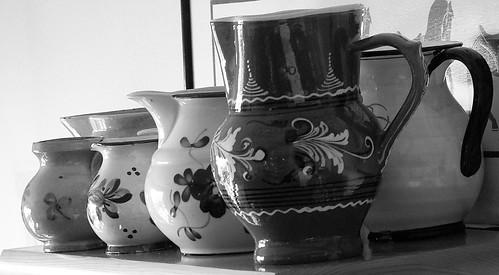Inherited jugs b&w