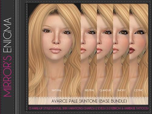 Avarice Light Skintone Base Bundle